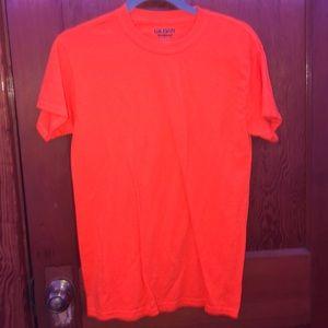 plain orange t shirt